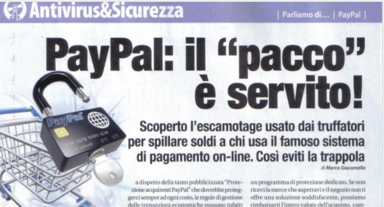 Paypal, il pacco è servito – WIN Magazine (Gennaio 2013)