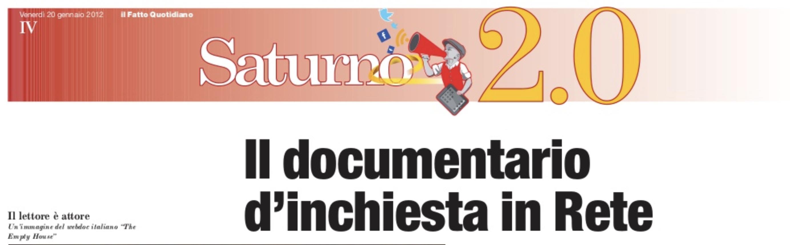 Libri gratis su Twitter – Il Fatto Quotidiano (Gennaio 2012)